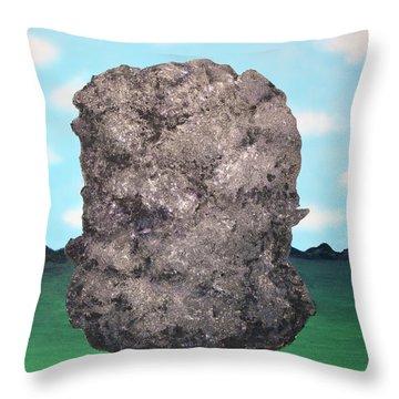 Light Rock Throw Pillow