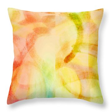 Throw Pillow featuring the painting Light Soul by Lucia Sirna