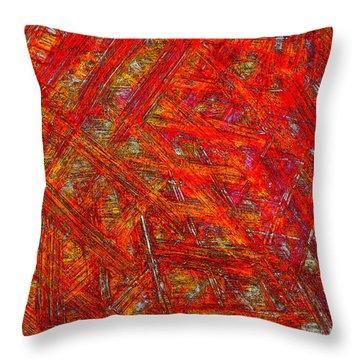 Throw Pillow featuring the mixed media Light Sticks 2 by Sami Tiainen