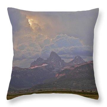 Light Storm Throw Pillow