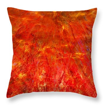 Throw Pillow featuring the mixed media Light Storm by Sami Tiainen