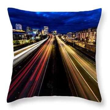 Light Streaks On 705 Throw Pillow