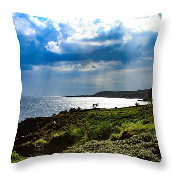 Light Streams On Kauai Throw Pillow
