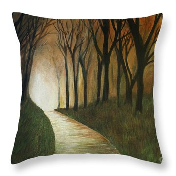 Light The Path Throw Pillow by Christy Saunders Church
