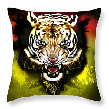 Light The Torch Throw Pillow by AC Williams