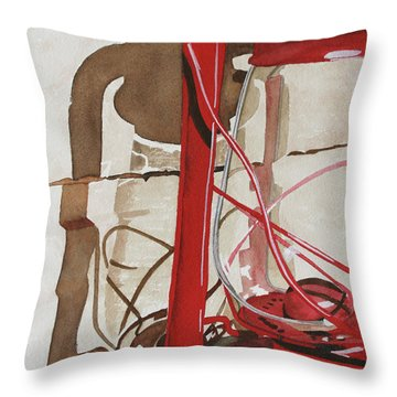 Throw Pillow featuring the painting Light The Way by Cynthia Powell
