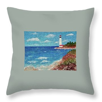 Throw Pillow featuring the painting Light The Way by Sonya Nancy Capling-Bacle