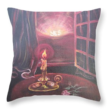 Flying Lamb Productions      Light The Yes Candle Throw Pillow