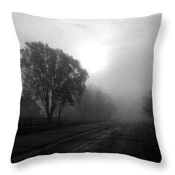 Light Through A Fog Throw Pillow