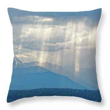 Light Through Clouds Throw Pillow