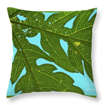 Light Through The Leaves Throw Pillow