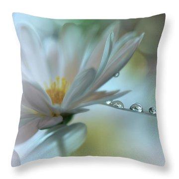 ..light Touch... Throw Pillow by Juliana Nan
