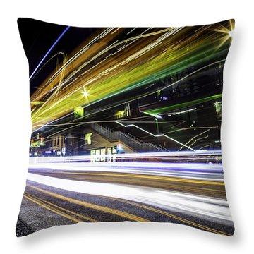 Light Trails 1 Throw Pillow