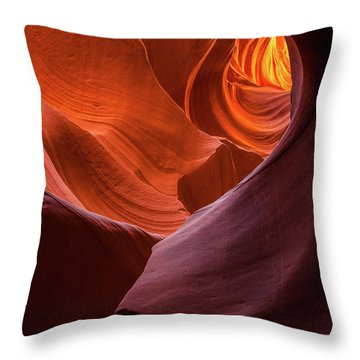 Light Tunnel - Antelope Lower Throw Pillow