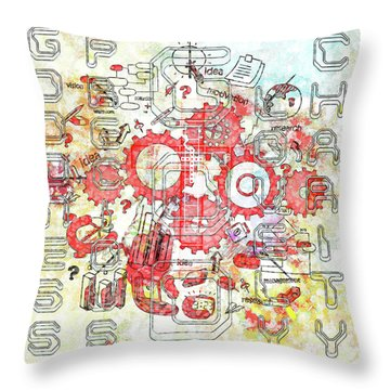 Light United Faith Throw Pillow