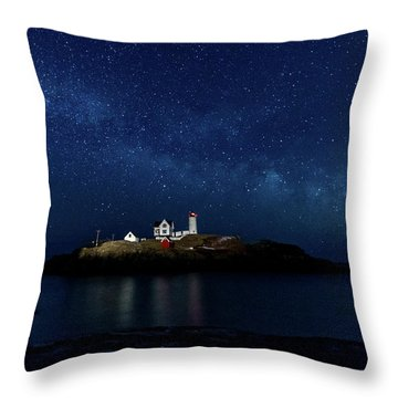 Light Up Nubble Lighthouse Throw Pillow