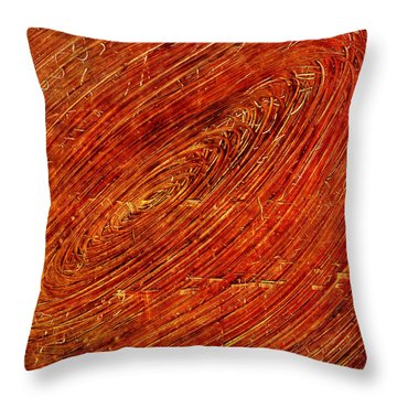 Throw Pillow featuring the mixed media Light Years by Sami Tiainen