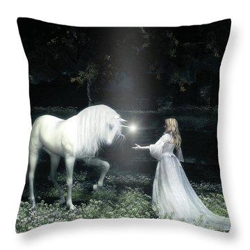 Lightbringer Throw Pillow by Melissa Krauss