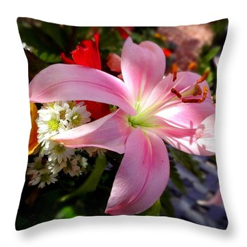 Lighted Lily Throw Pillow