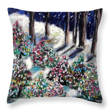 Lighted Path Throw Pillow by John Williams