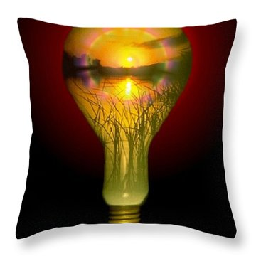 Lighthearted Sunset Throw Pillow by Tim Allen