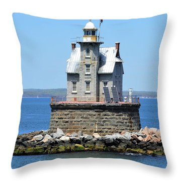 Lighthouse 2-c Throw Pillow