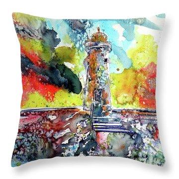 Lighthouse After Storm Throw Pillow by Kovacs Anna Brigitta