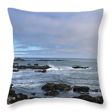 Lighthouse And Coastview Throw Pillow