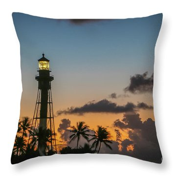Throw Pillow featuring the photograph Lighthouse At Dawn #1 by Tom Claud