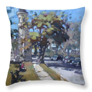 Lighthouse At Fort Niagara Throw Pillow