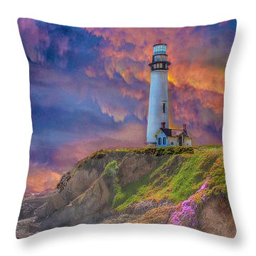 Lighthouse At Pigeon Point Throw Pillow