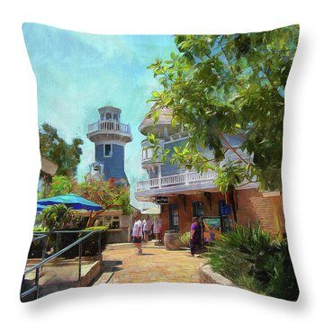 Lighthouse At Seaport Village Throw Pillow