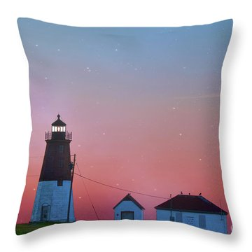 Throw Pillow featuring the photograph  Lighthouse At Sunrise by Juli Scalzi