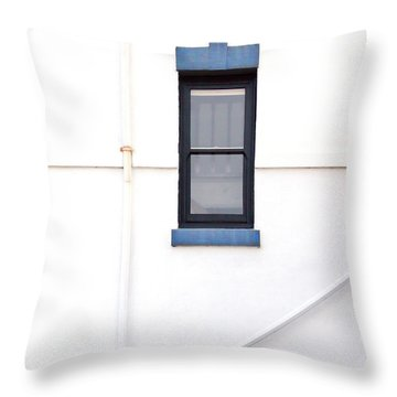 Lighthouse Door Window Detail Abstract Throw Pillow