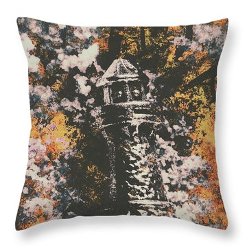 Lighthouse From Rust Harbour Throw Pillow