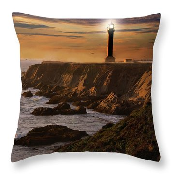 Lighthouse  Throw Pillow by Harry Spitz