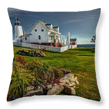 Lighthouse Home Throw Pillow