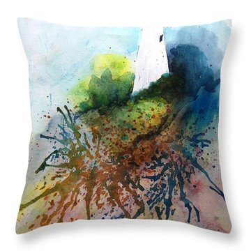 Lighthouse I - Original Sold Throw Pillow