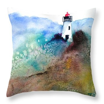 Lighthouse II - Original Sold Throw Pillow