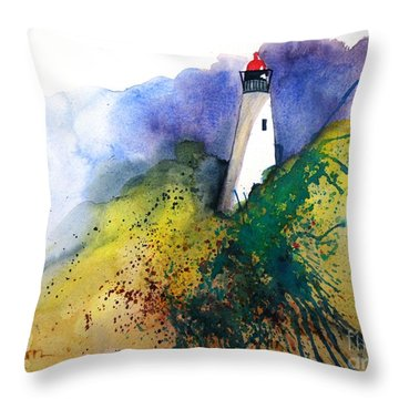 Lighthouse IIi - Original Sold Throw Pillow
