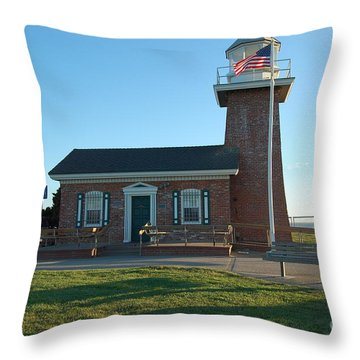 lighthouse in Santa Cruz Throw Pillow