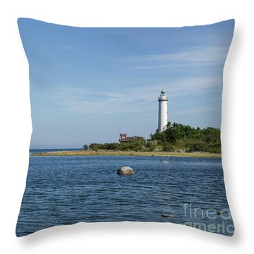 Throw Pillow featuring the photograph Lighthouse In The Baltic Sea by Kennerth and Birgitta Kullman