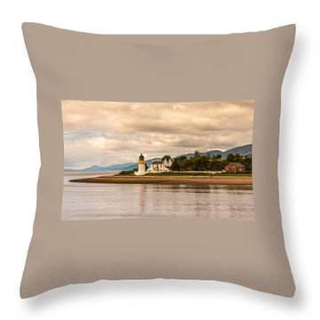 Lighthouse In The Highlands Throw Pillow