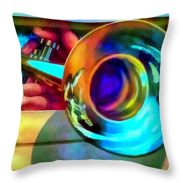 Lighthouse Jazz Art Throw Pillow