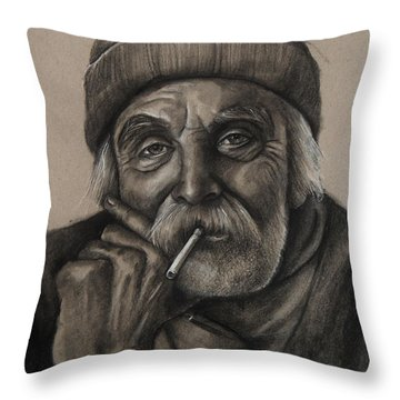 Lighthouse Keeper Throw Pillow by Jean Cormier