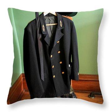 Lighthouse Keeper Uniform Throw Pillow