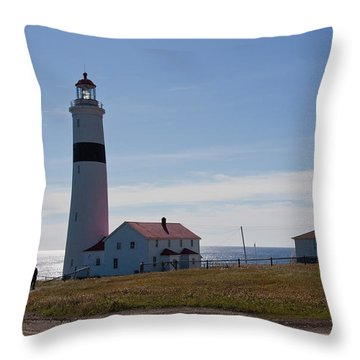 Lighthouse Labrador Throw Pillow