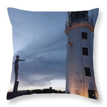 Lighthouse Lady 2 Throw Pillow