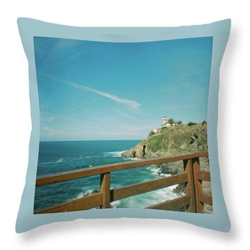 Lighthouse Over The Ocean Throw Pillow