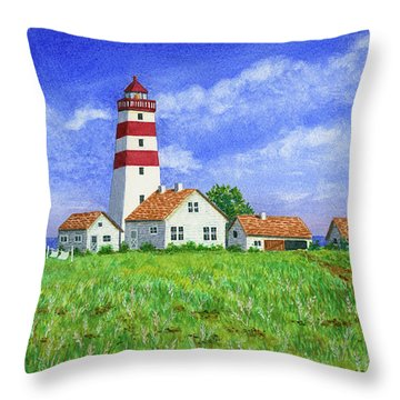 Lighthouse Pasture Throw Pillow